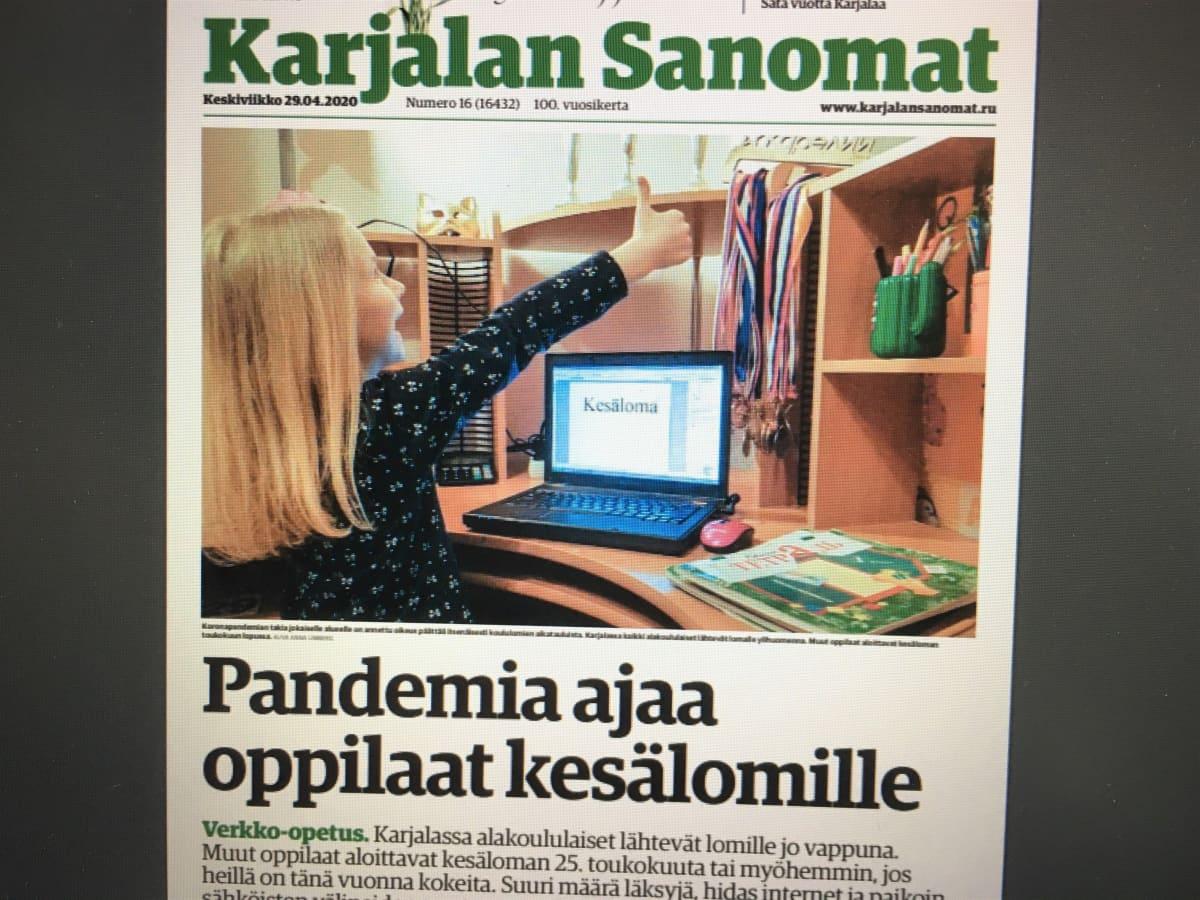 Karjalan Sanomat kertoo oppilaiden Venäjän Karjalassa lähtevän kesälomalle koronakeväänä tavallista aiemmin.