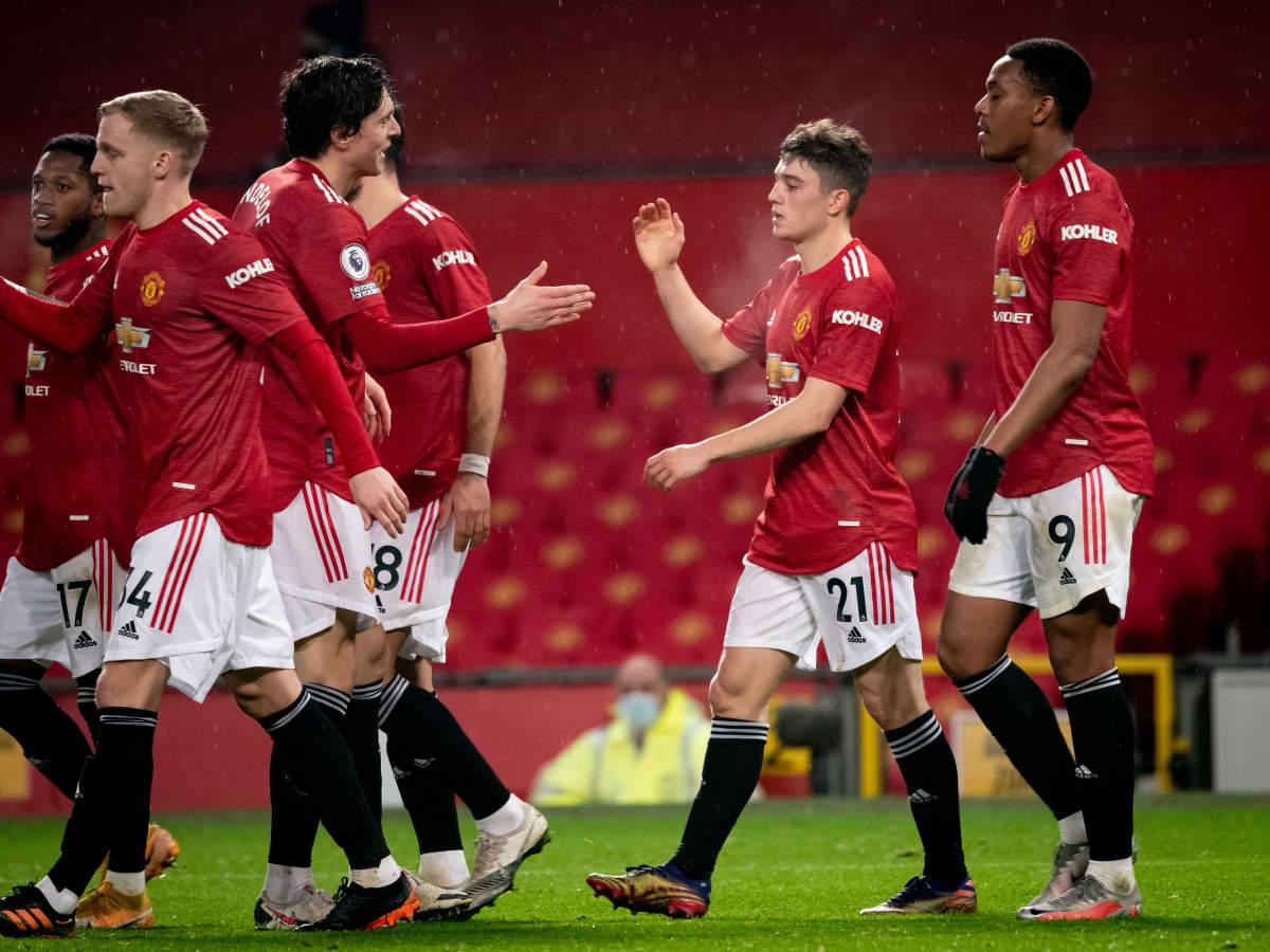 Manchester United juhlii