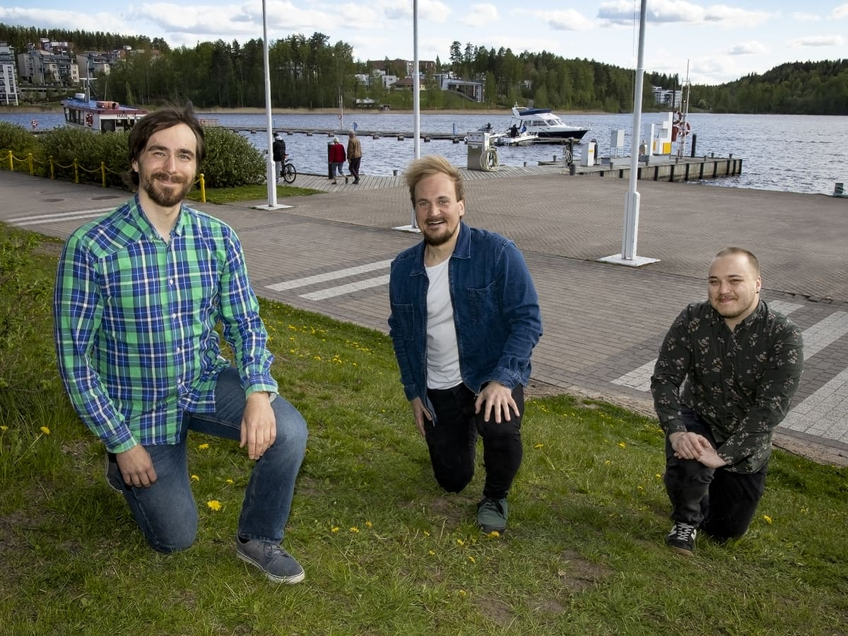 Nikals Taanila, Henri Karjalainen ja Aleksi Bondfolk.
