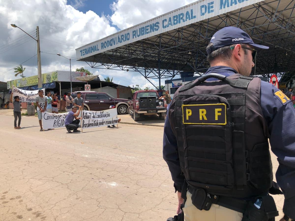 Pacaraiman rajakaupungissa järjestettiin viime lauantaina pienimuotoinen mielenosoitus, jossa vaadittiin rajan sulkemista venezuelalaisilta maahantulijoilta.
