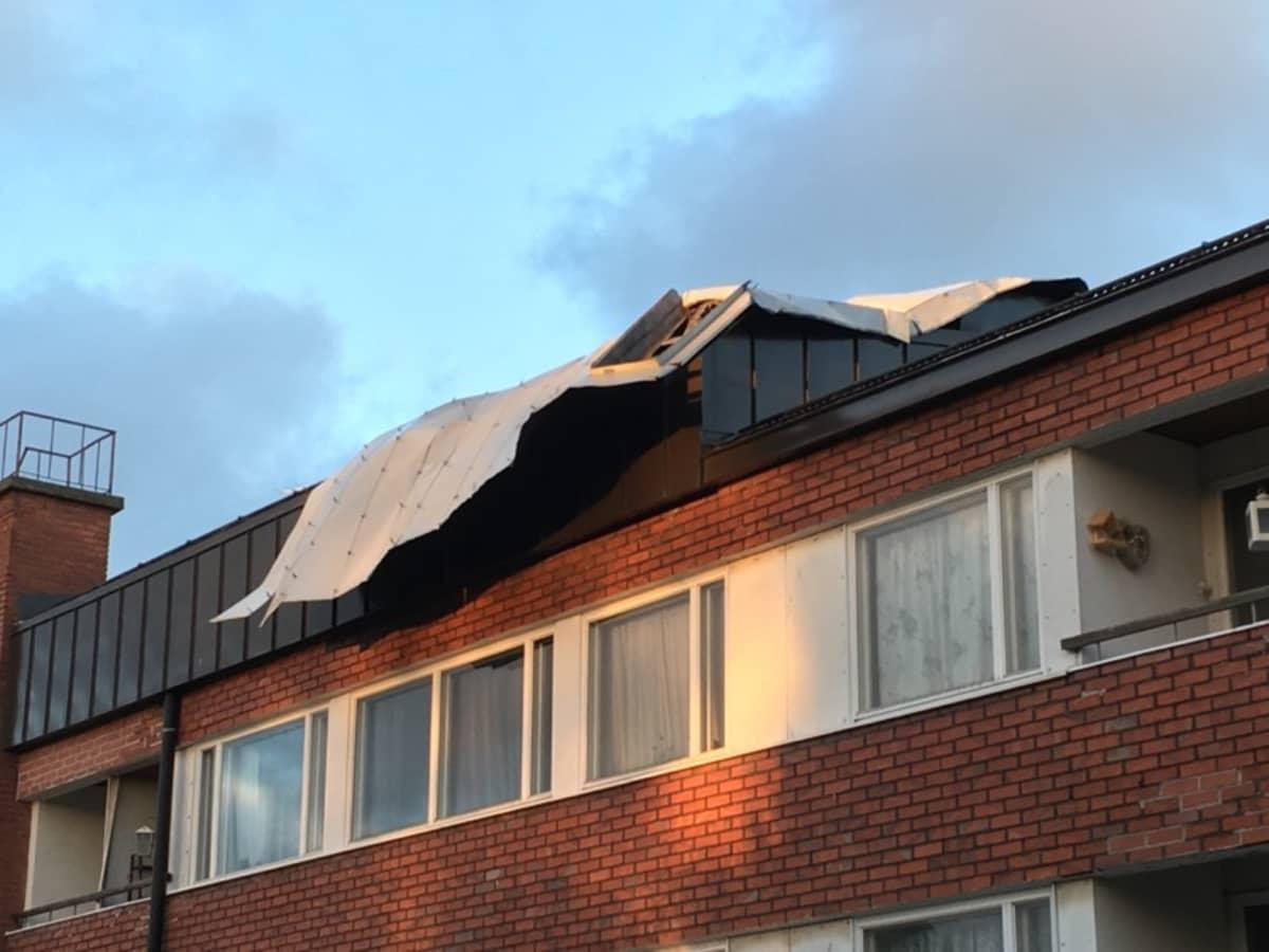 Myrsky peltikatto katto kattopelti pelti tuuli
