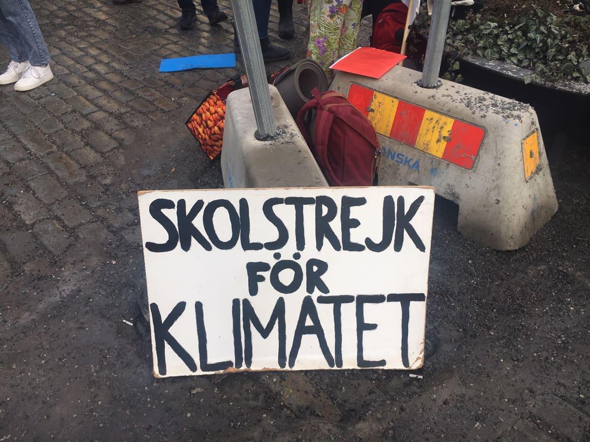 Greta Thunbergin perjantainen koululakko jatkuu.