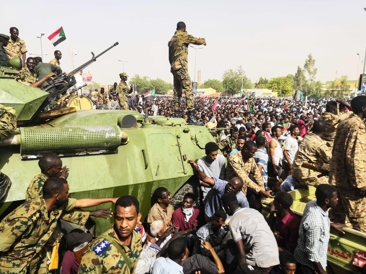 Mielenosoitus Khartoumissa Sudanissa.
