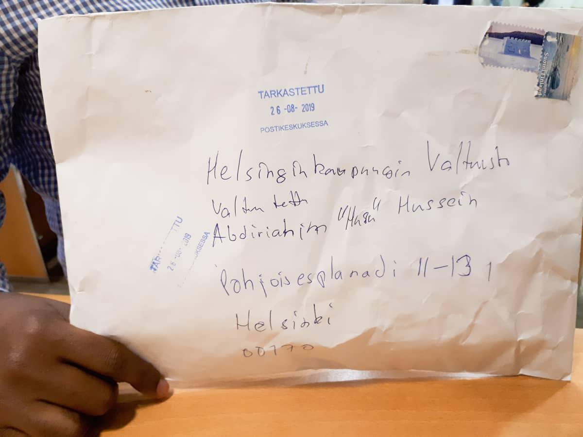 Abdirahim Husu Hussein saama uhkauskirje