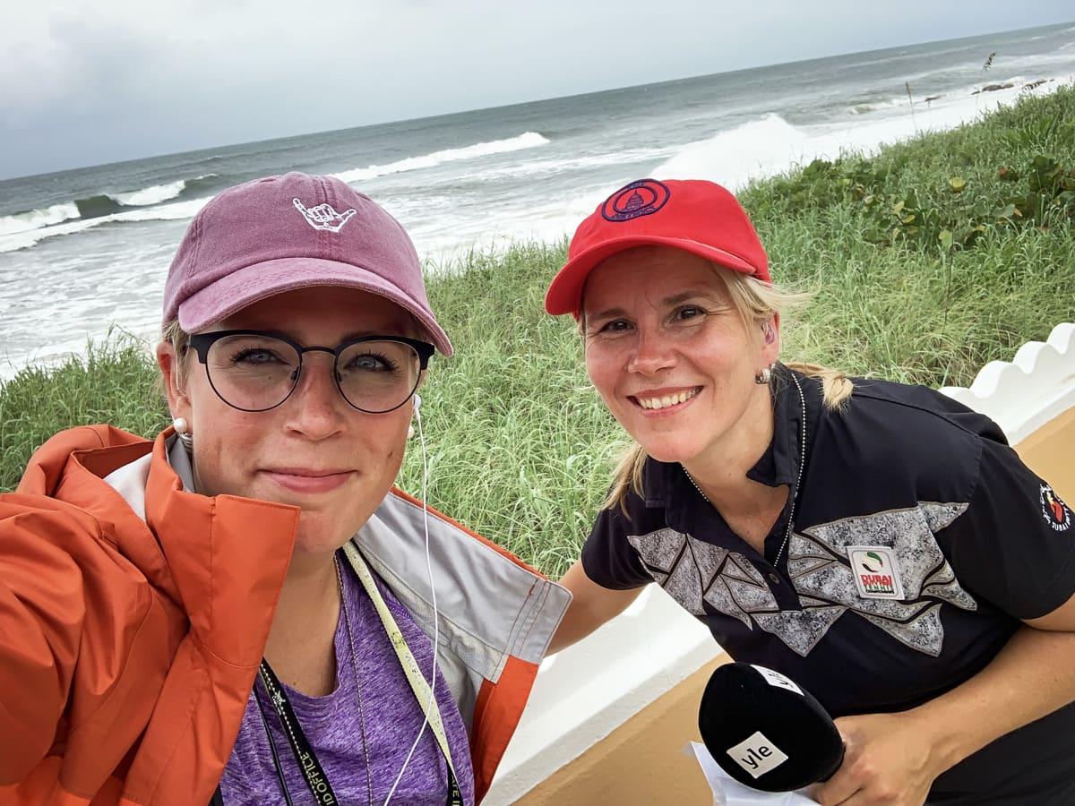 Kuvaaja-leikkaaja Nina Svahn ja kirjeenvaihtaja Paula Vilén ovat tehneet yhdessä lukuisia työkeikkoja kriisi- ja katastrofialueille.