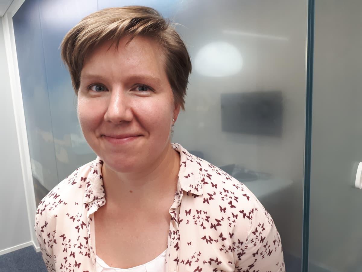 Saara Kukkonen, viljelijä Hämeenkoskelta