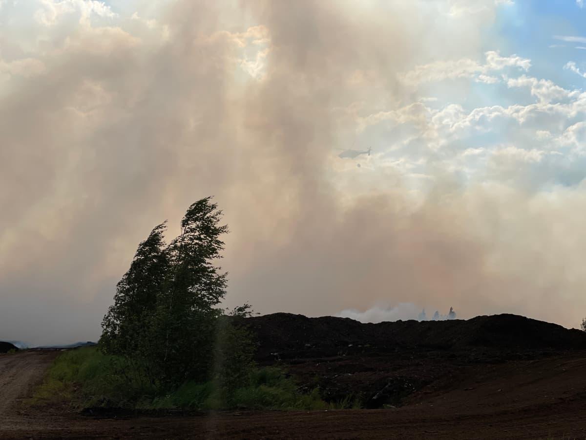 Suonenjoki turvesuon tulipalo
