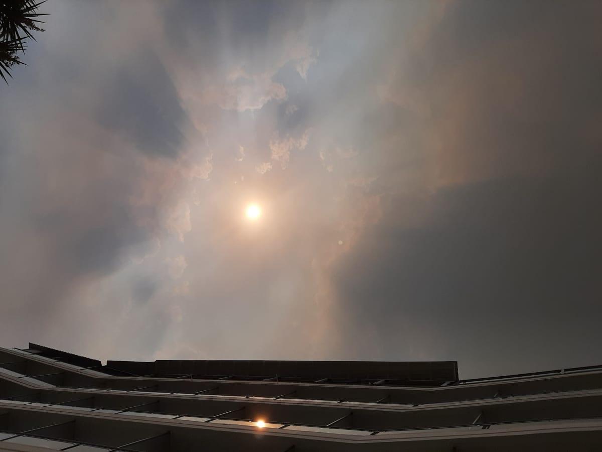 Amarinthos sijaitsee noin 100 kilometrin päässä pahimmalta paloalueelta Evian saarella.