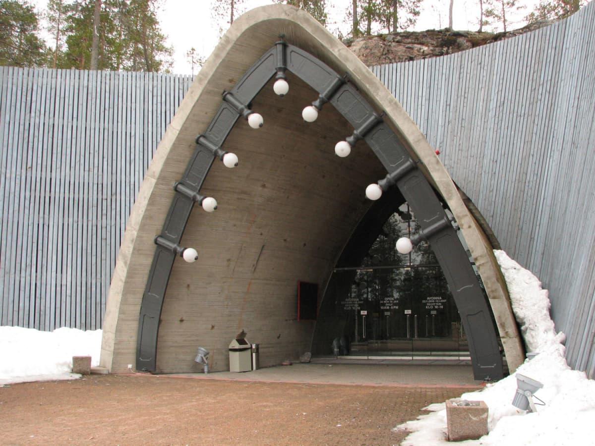 SantaParkin sisäänkäynti Rovaniemellä.