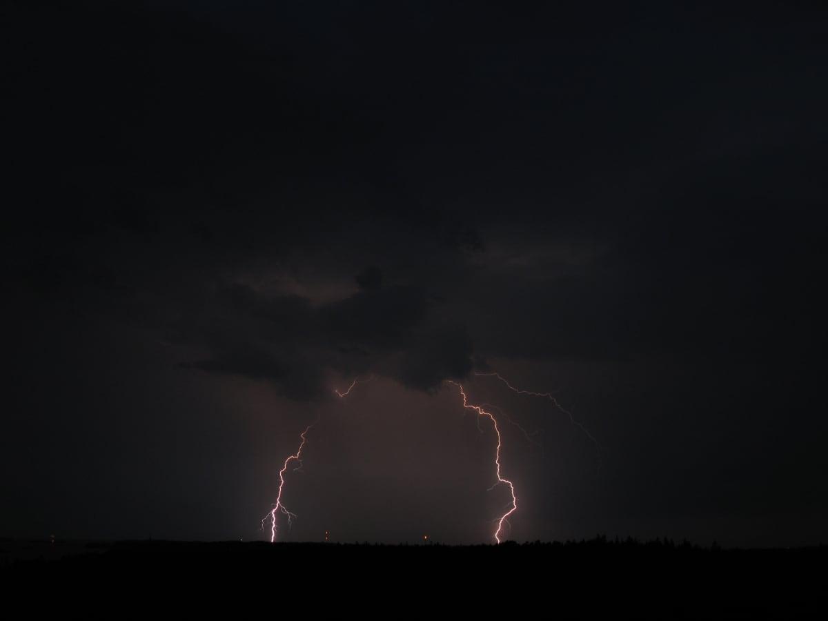 Lightning in the Kirkkonummi region.