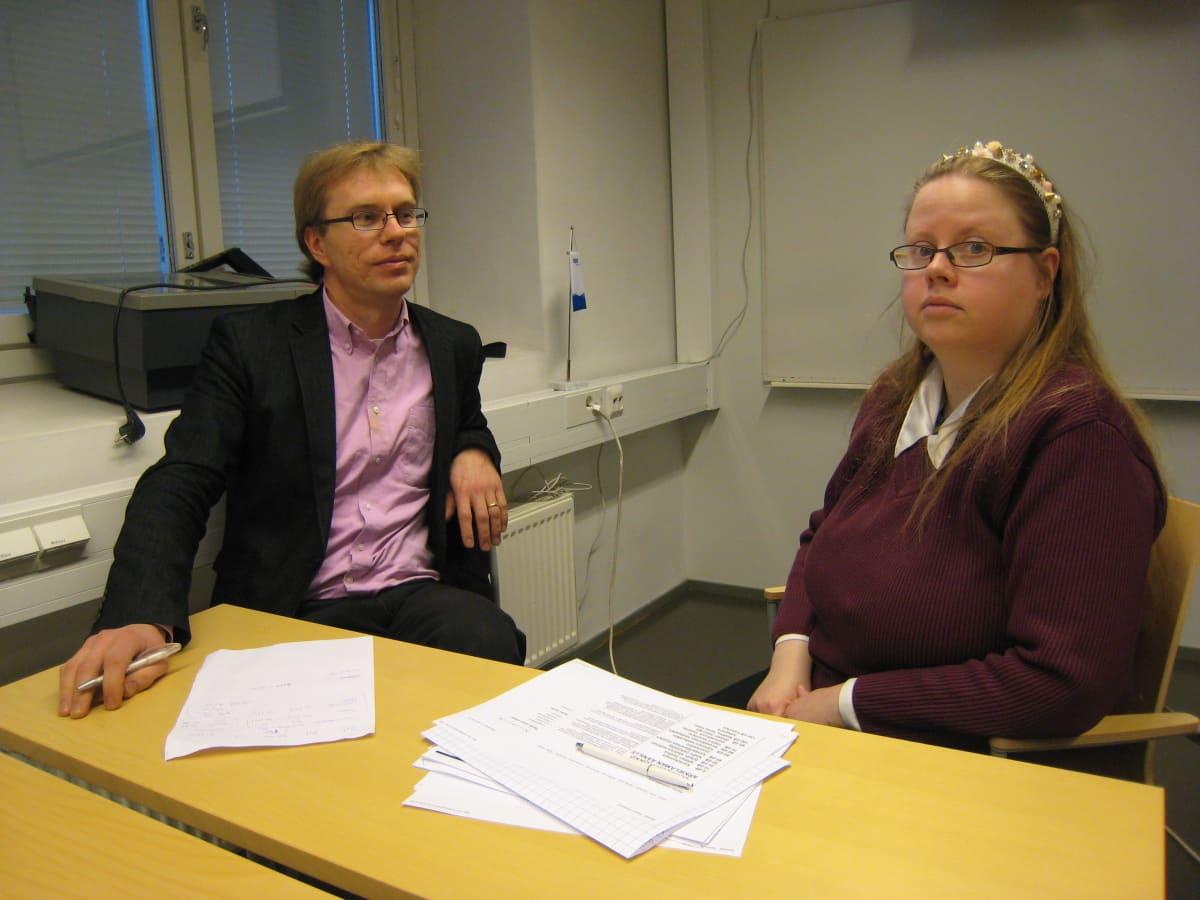 Tutkijatohtorit Petri Välisuo ja Birgitta Martinkauppi