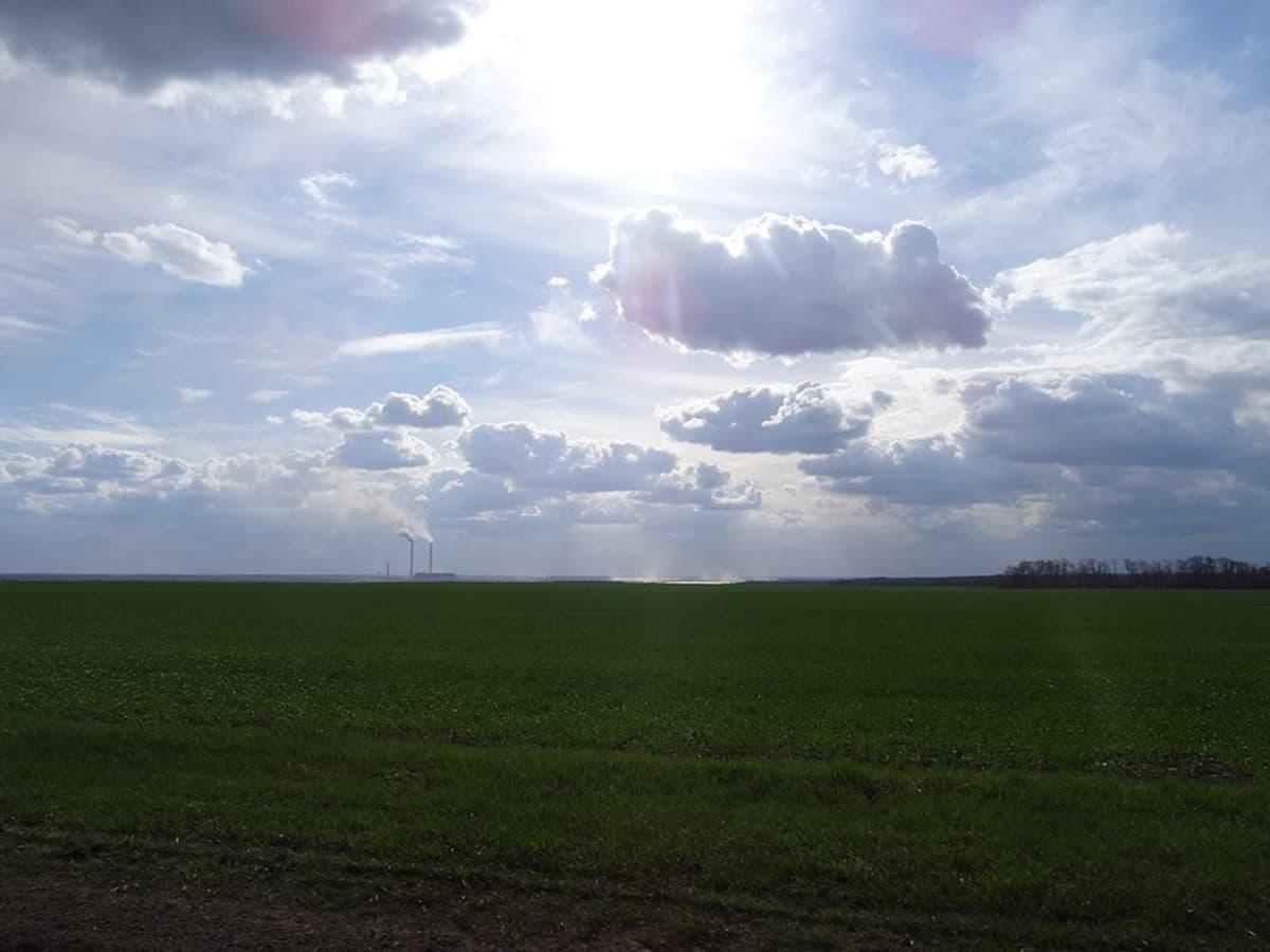 Maa on Ukrainassa hedelmällistä, ja pellot suuria.