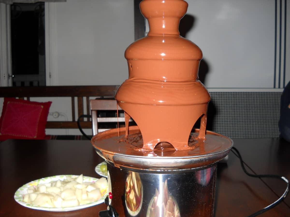 Suklaaputous valmiina vastaanottamaan vaahtokaramelleja.