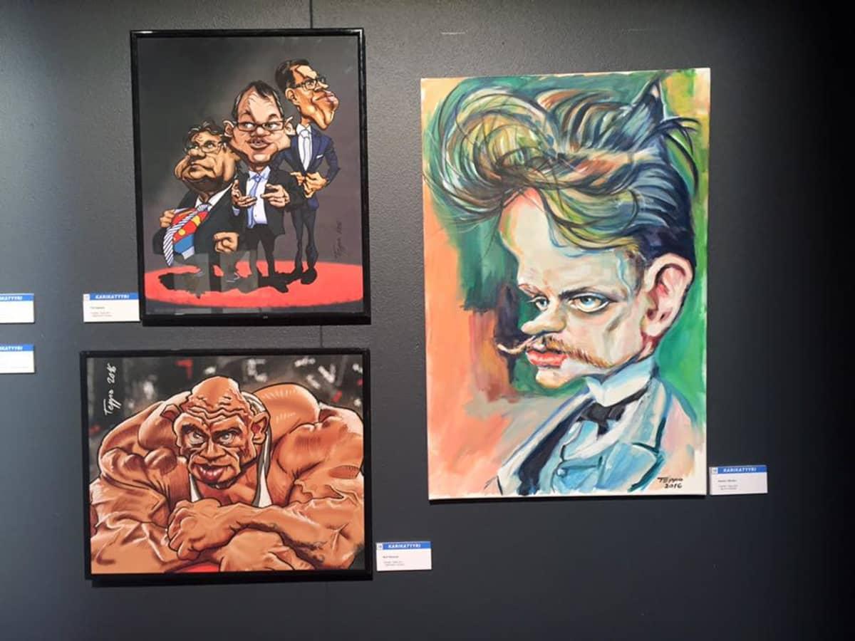 Karikatyyri, karikatyristi, piirustus, maalaus, taulu, jean sibelius, hallitus, bull mentula