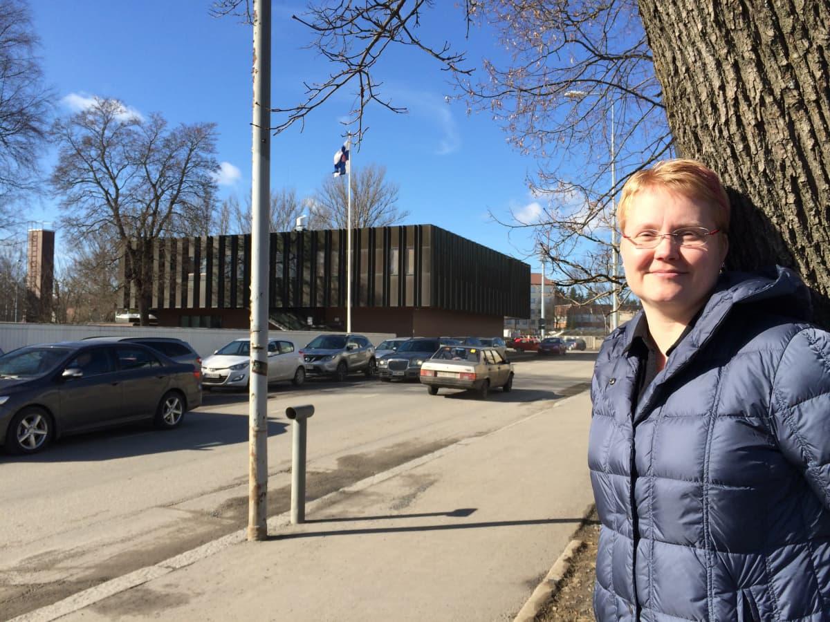 Perussuomalaisten Etelä-Savon piirin johtaja Kati Kähkönen.