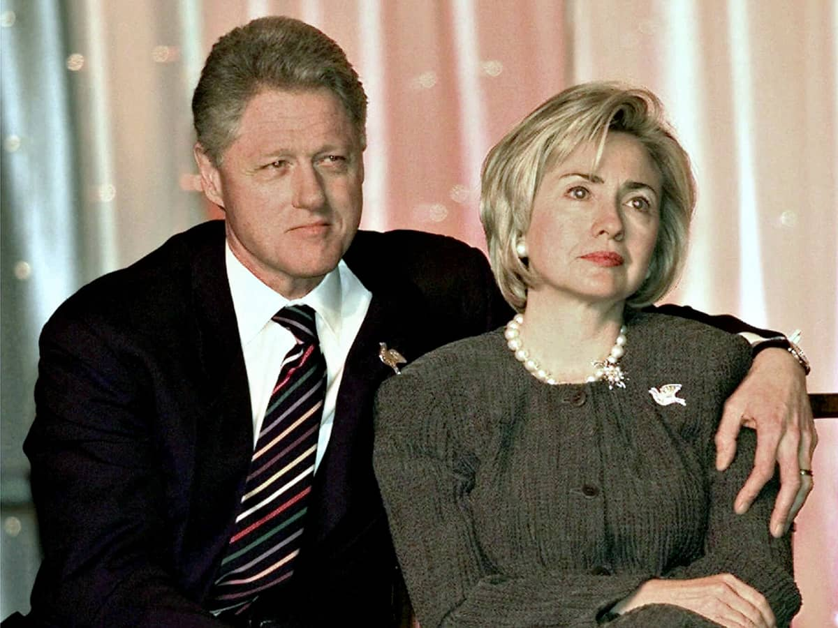 Bill Clinton ja Hillary Clinton.