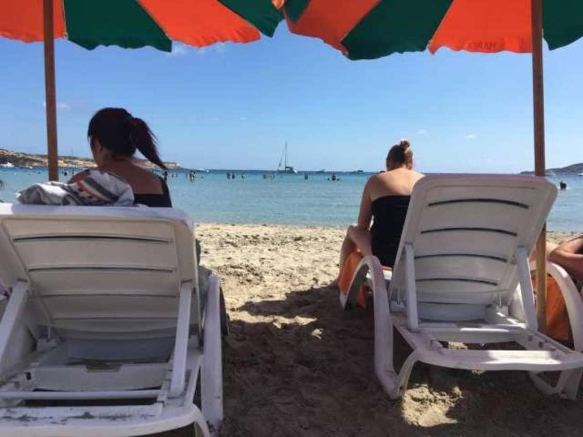 Mellieha beach Maltalla
