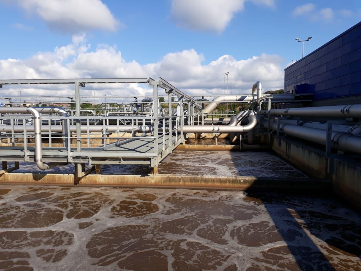 Mussalon jätevedenpuhdistamon ilmastusallas