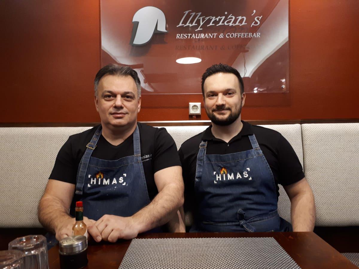 Ravintoloitsijat Faton ja Fatos Kavaja Vaasasta