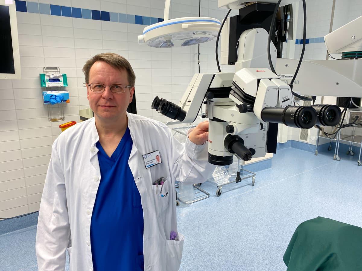 Vastuualuejohtaja Marko Kataja, Tays Silmäkeskus.