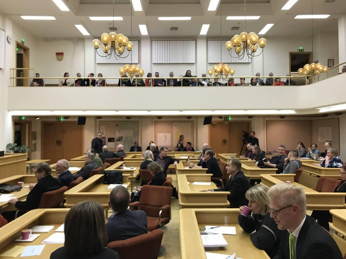 Mänttä-Vilppulan kaupunginvaltuuston kokous.