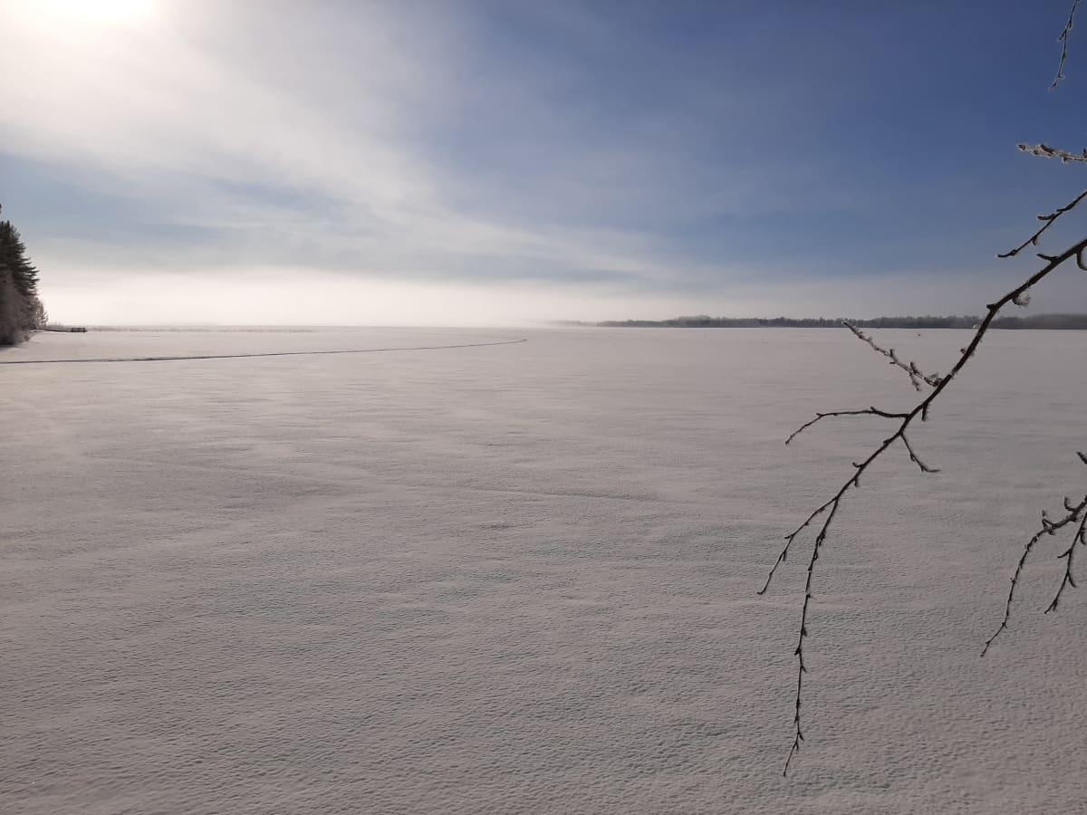 Jääpeitteinen Höytiäinen.