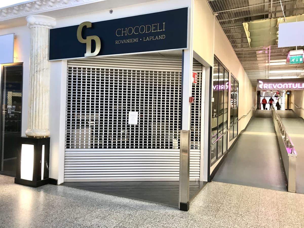 Choco Deli Oy:n suljettu kahvila Rovaniemellä