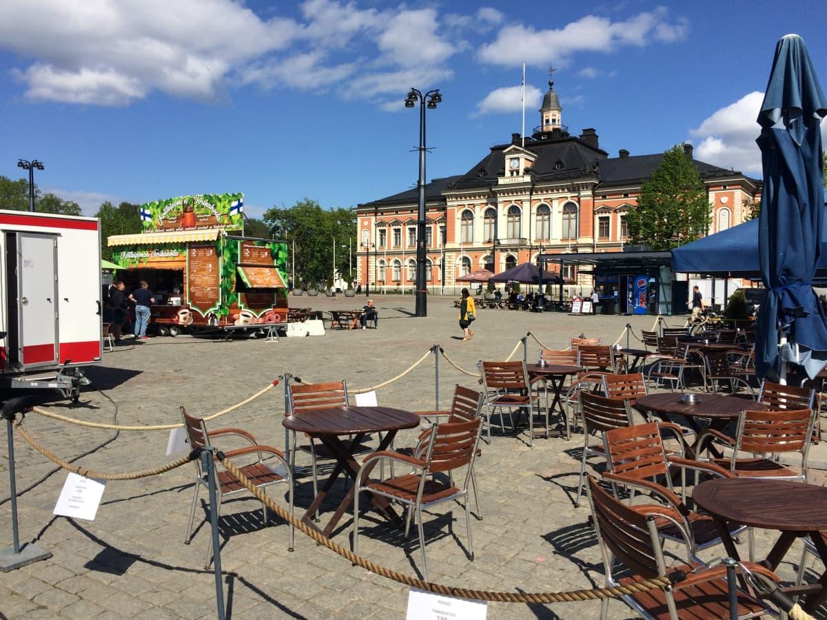 Kuopion torinäkymää kaupungintalolle päin kesäkuussa 2020