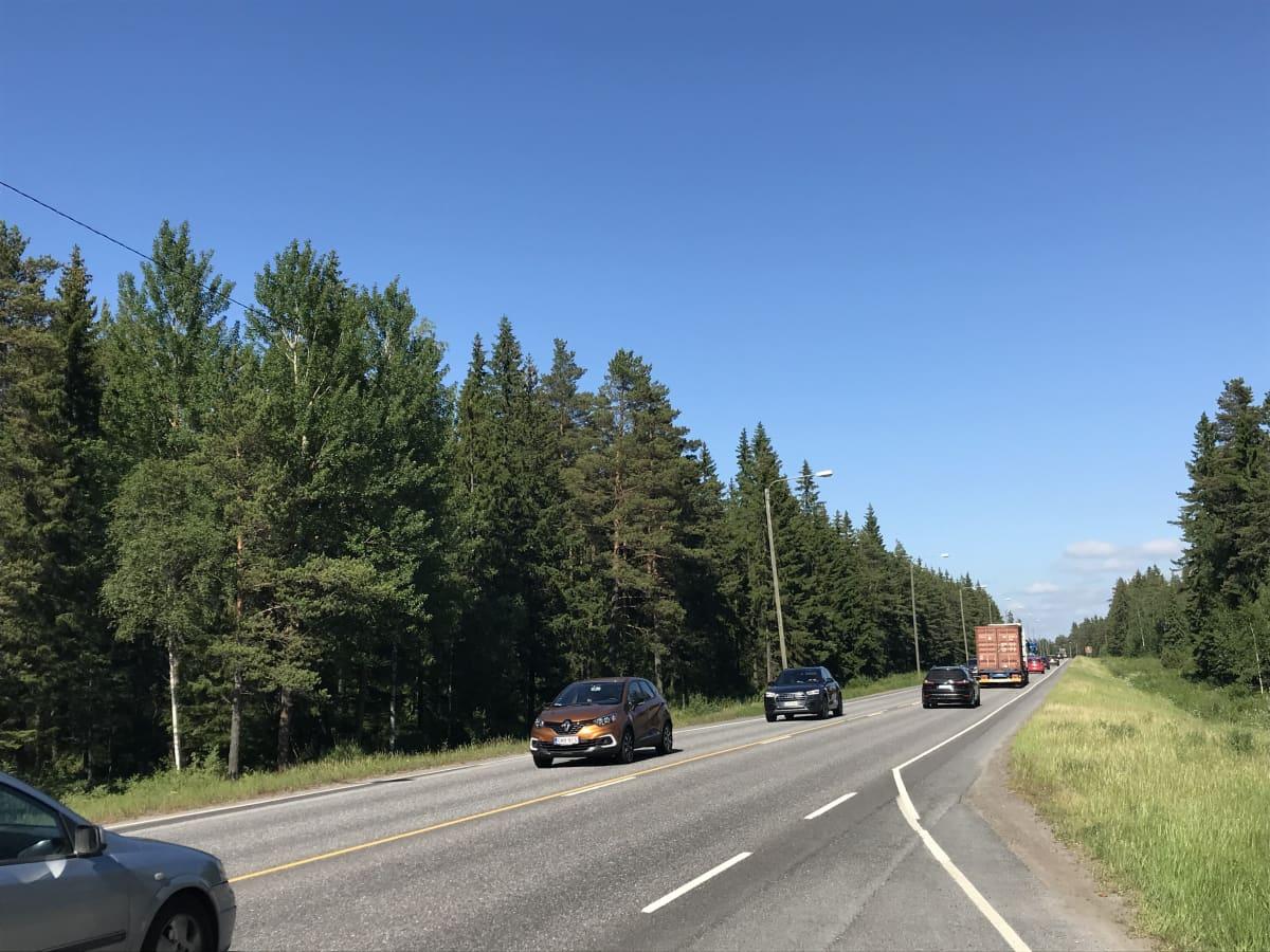 Autoja valtatie 8 Eurajoki.