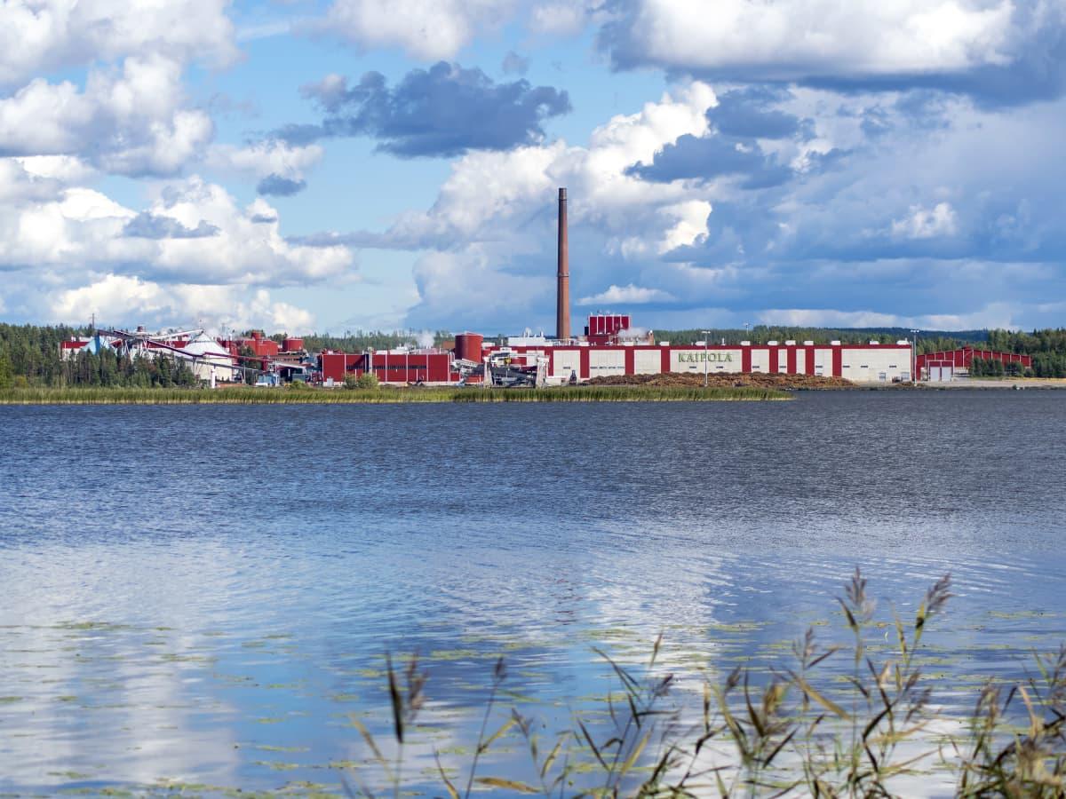 Kaipolan paperitehdas Päijänteen rannalla.