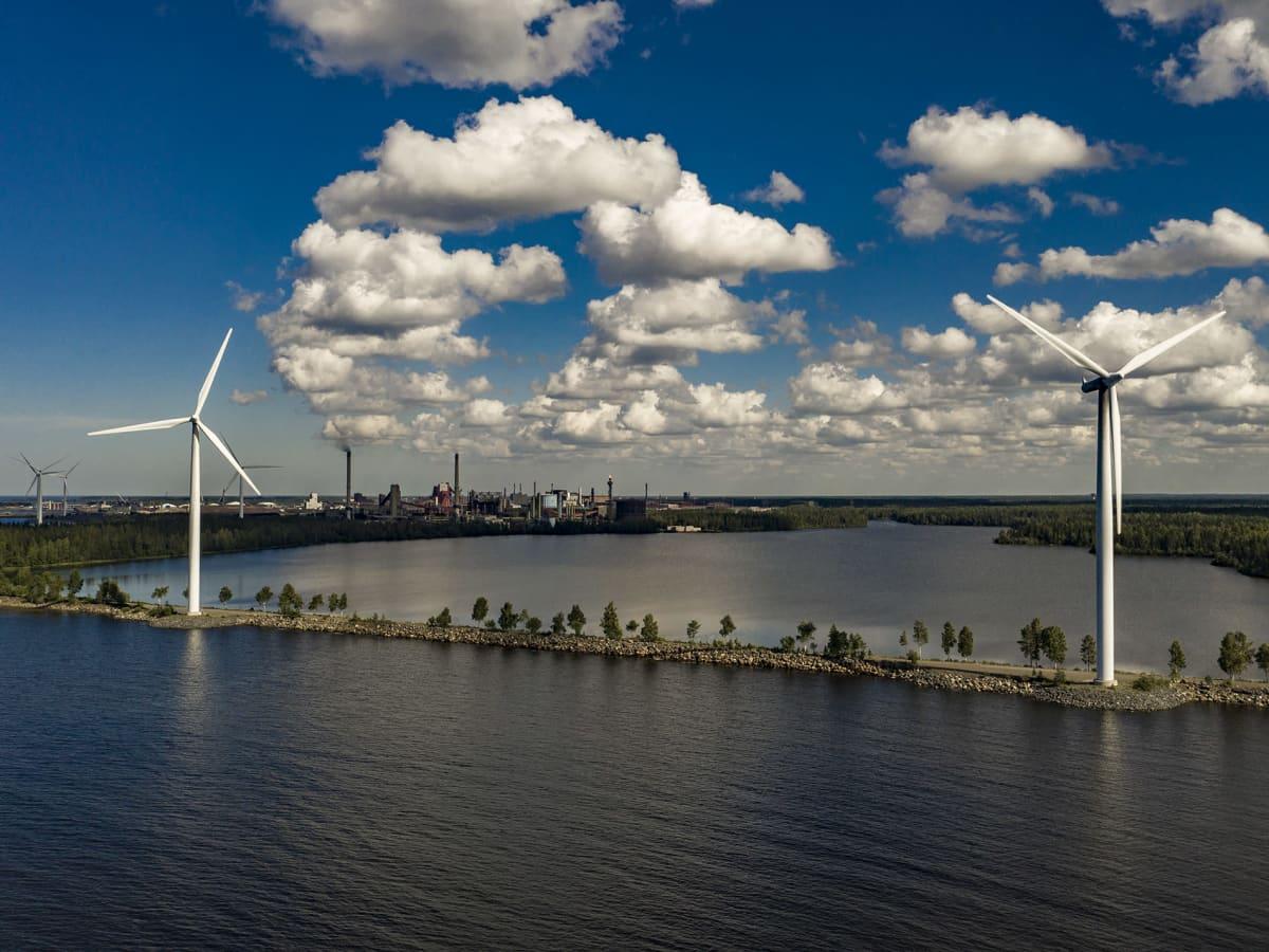 Tuulivoimaa ja SSAB tehdas
