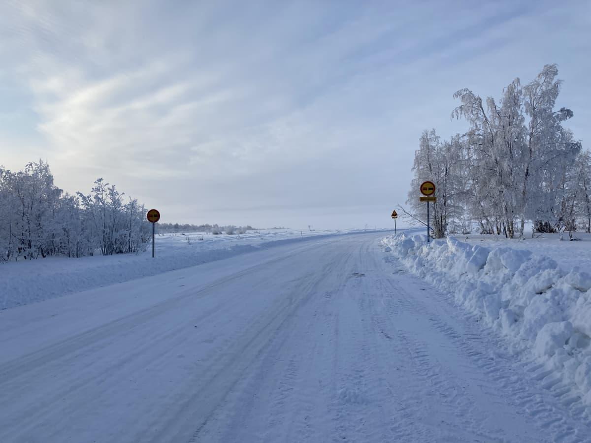 Hailuodon jäätie 11.2.2021