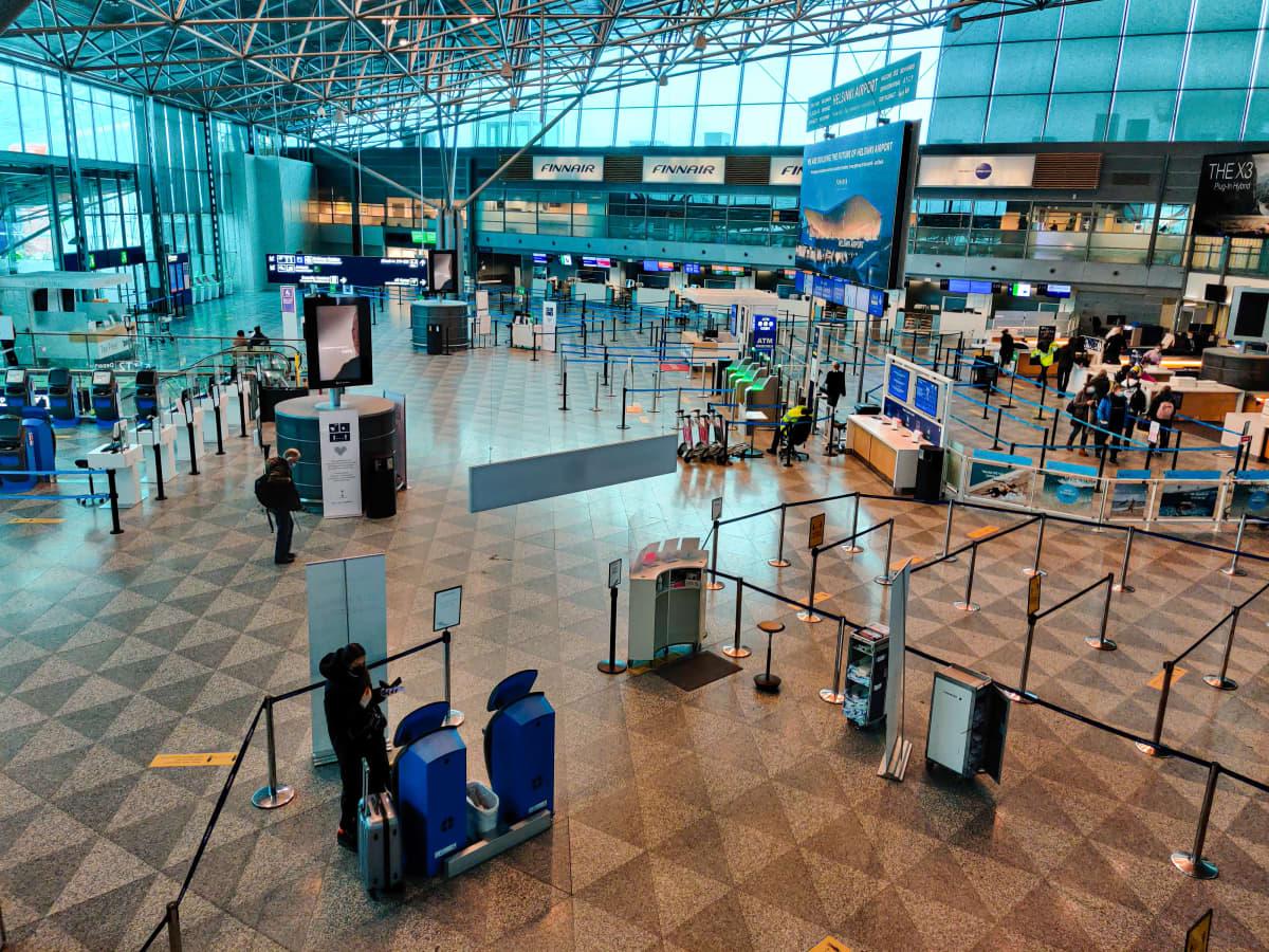 Terminaali 2 Helsinki-Vantaan lentokentällä.