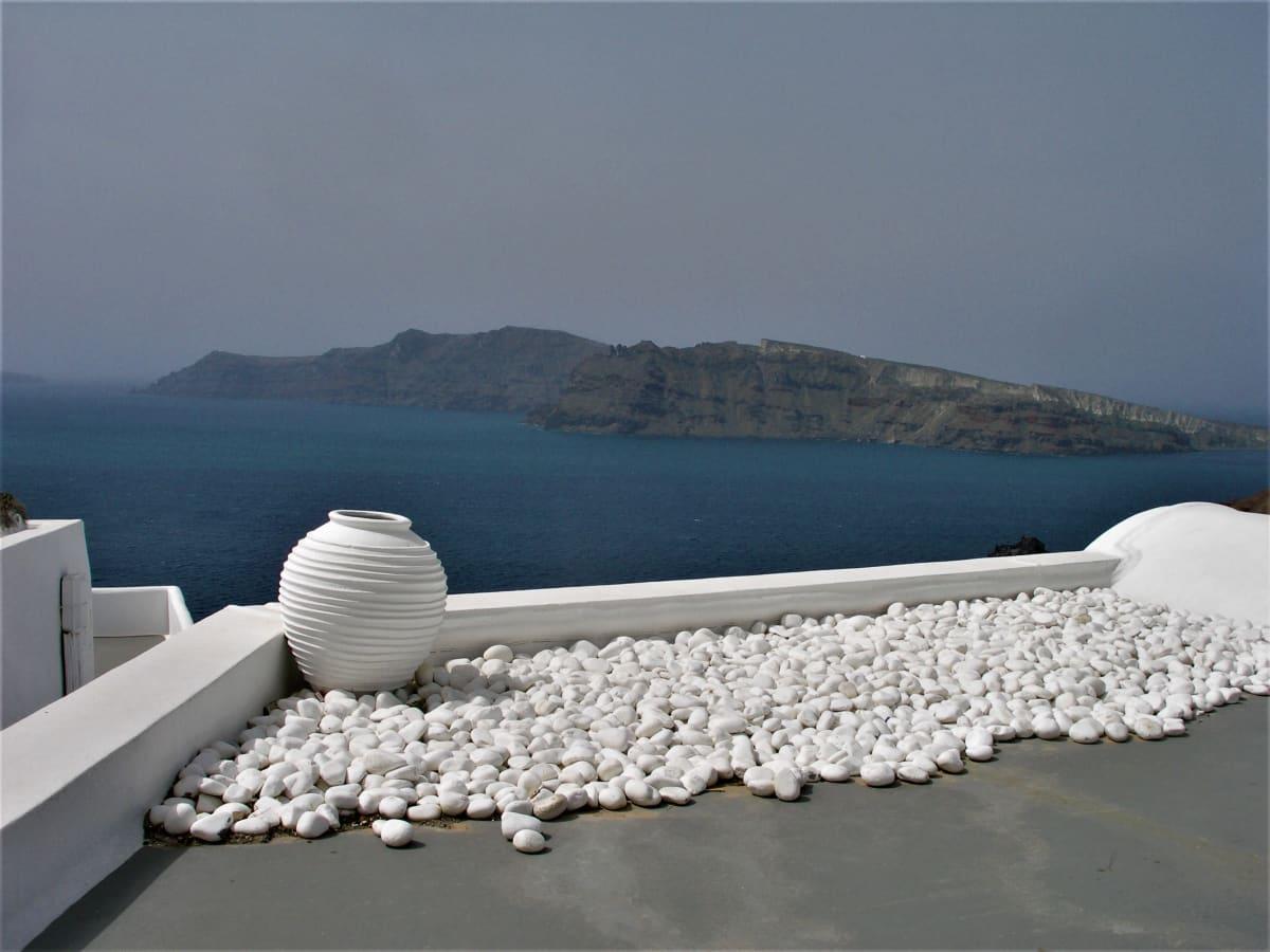 Näkymä merelle kreikkalaisella saarella