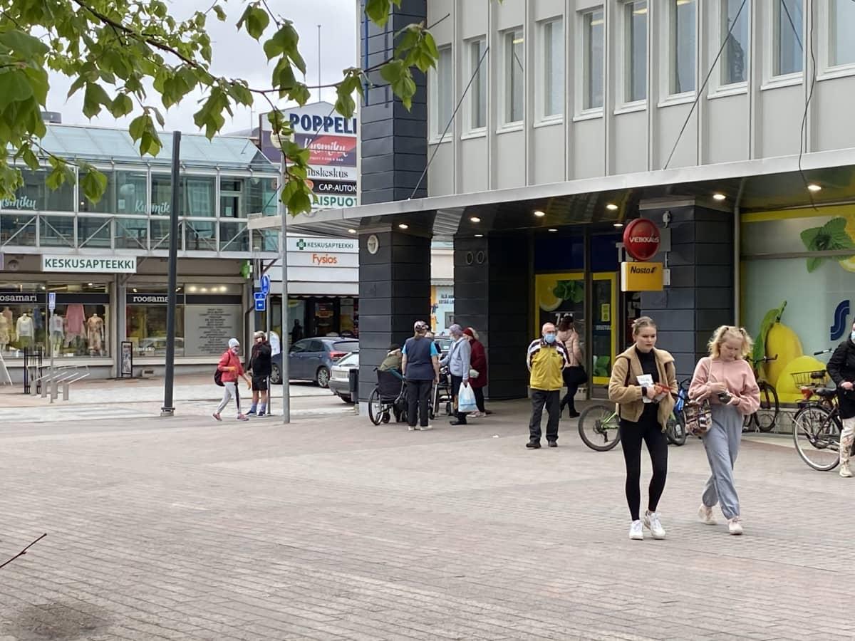 Näkymä Heinolan keskustasta 20.5.2021