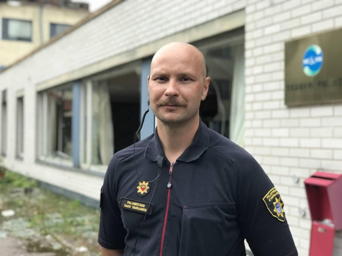Kymenlaakson pelastuslaitoksen palomestari Saku Tauriainen