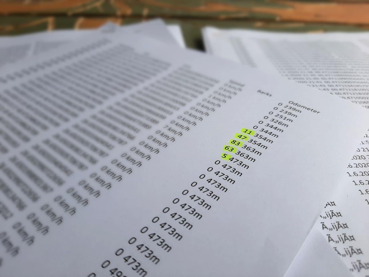 Kyösti Husun asiakirjoista yksityiskohta.