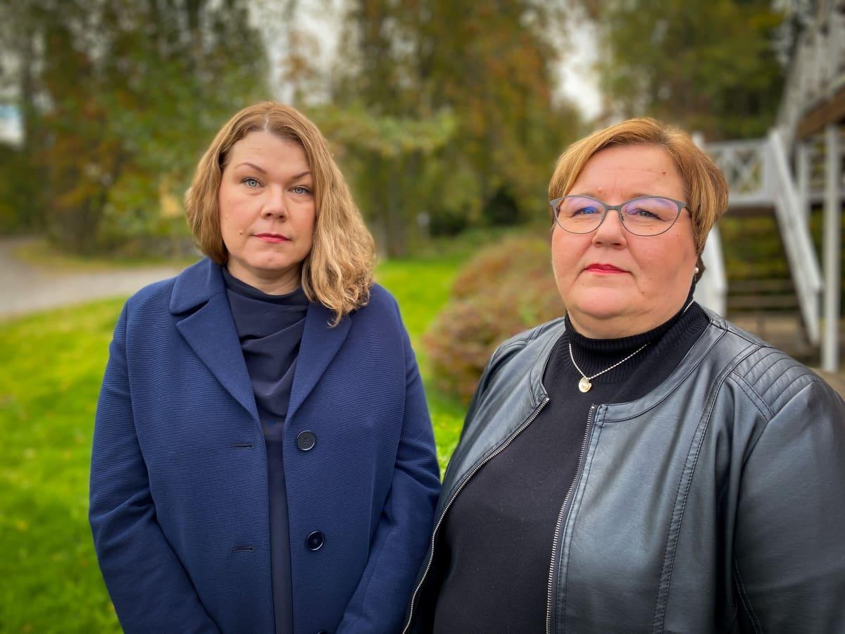 Sociala oy:n toimitusjohtaja Anna Hauta- aho ja Koivupirtin säätiön tomitusjohtaja Johanna Santaniemi.