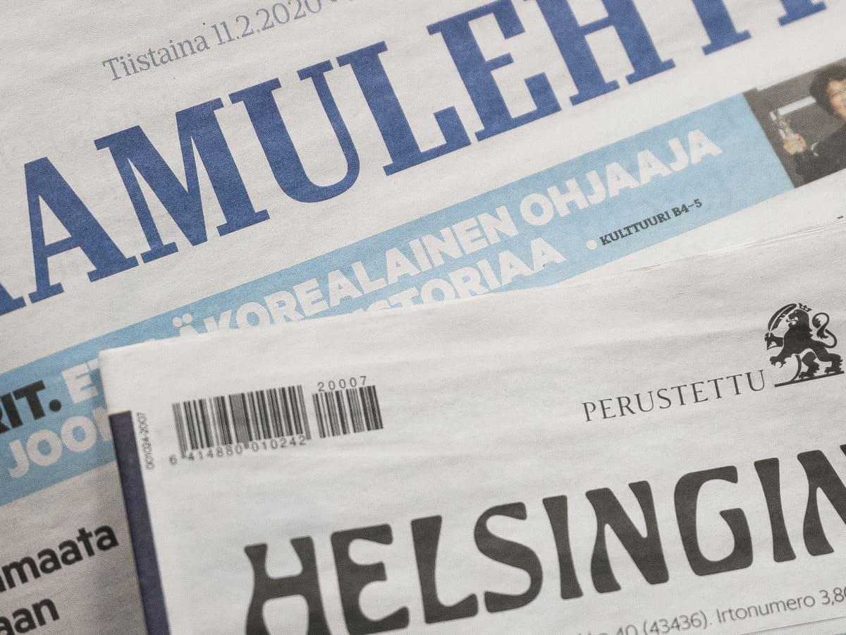 Printtilehdet Helsingin Sanomat Aamulehti