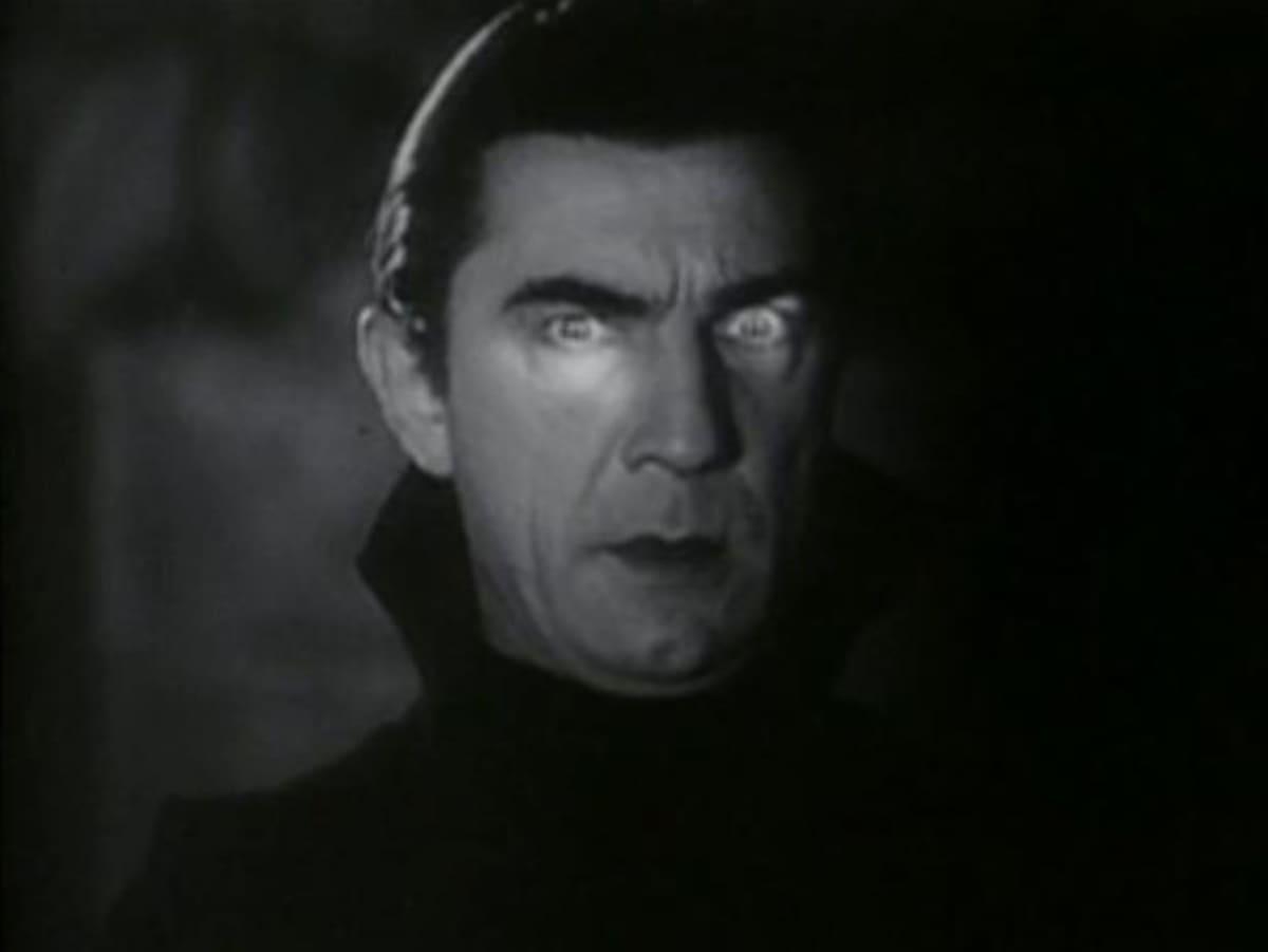 Screenshot elokuvasta Dracula vuodelta 1931. Draculana Bela Lugosi.