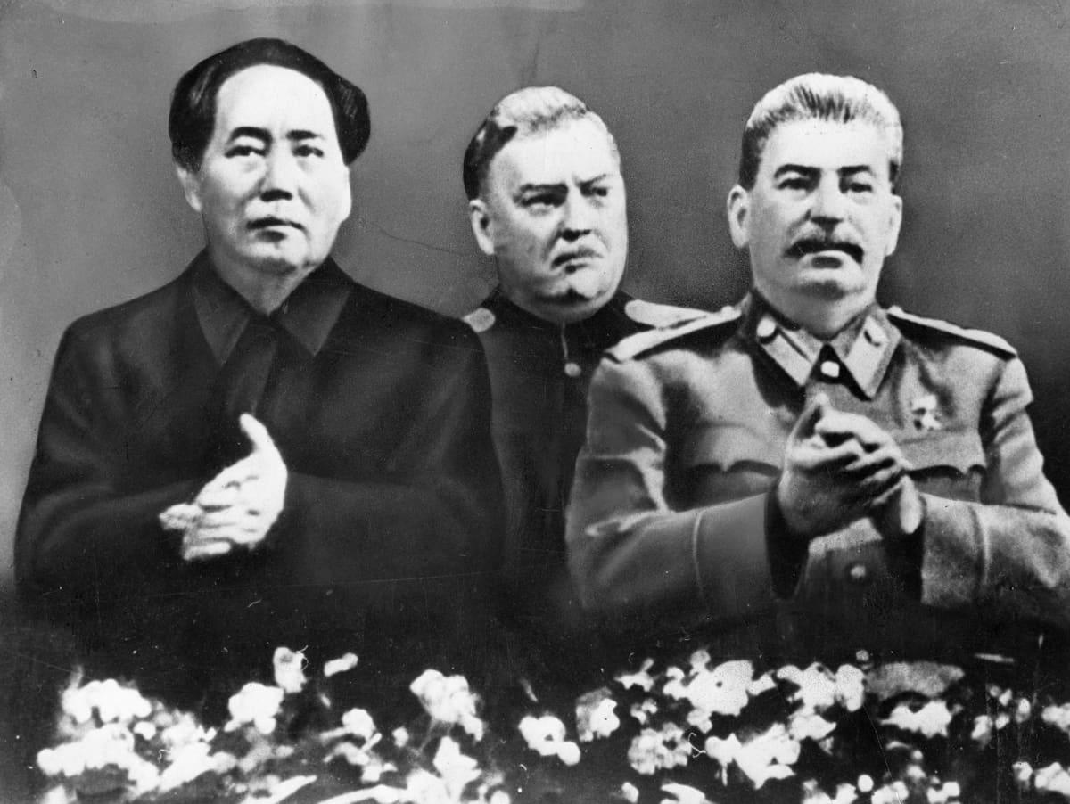 Mao Zedong ja Josif Stalin Bolshoi-teatterissa