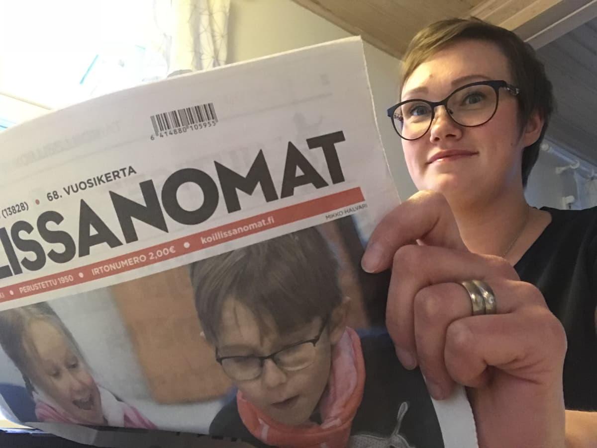 Jenny Halvari. Koillissanomien vt. päätoimittaja 2019.