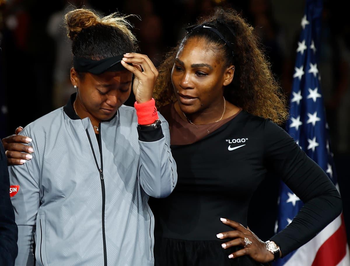 Naomi Osaka ja Serena Williams US Openissa 2019.