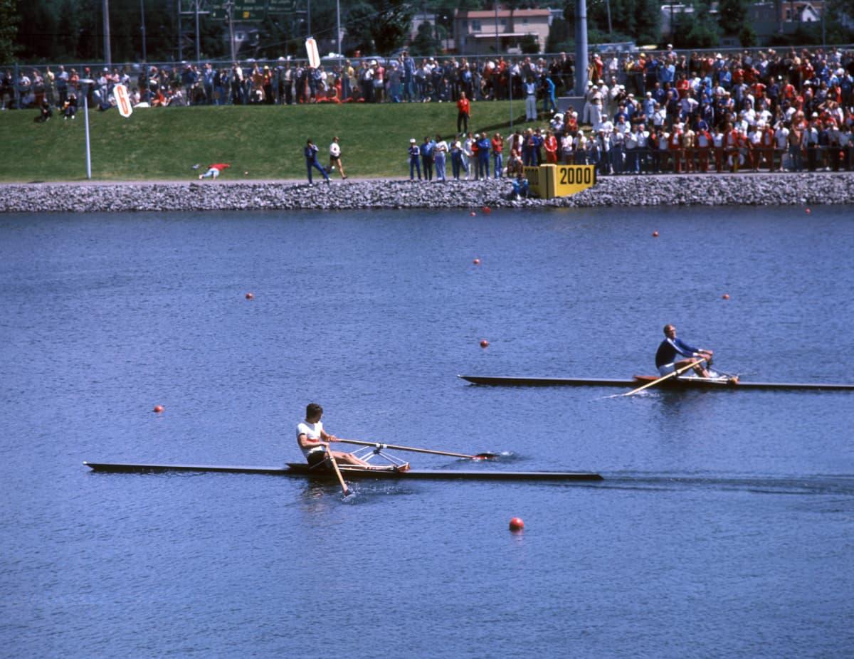 Peter Kolbe och Pertti Karppinen, OS 1976.