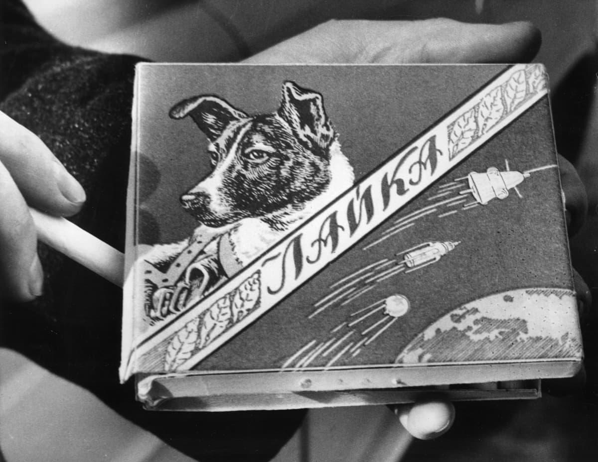 Kuvassa Laika-tupakka-aski.