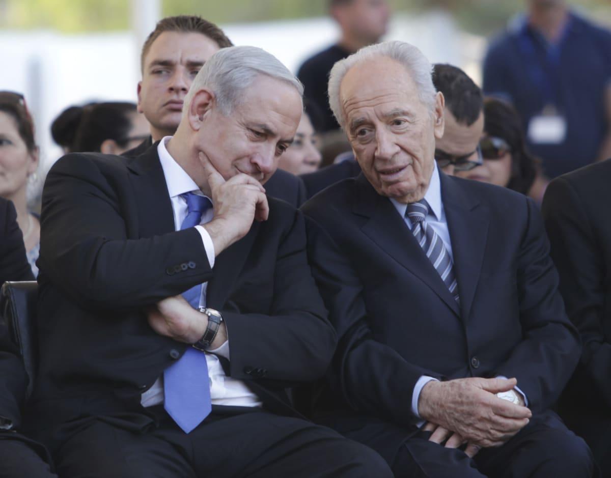 Benjamin Netanyahu ja Shimon Peres