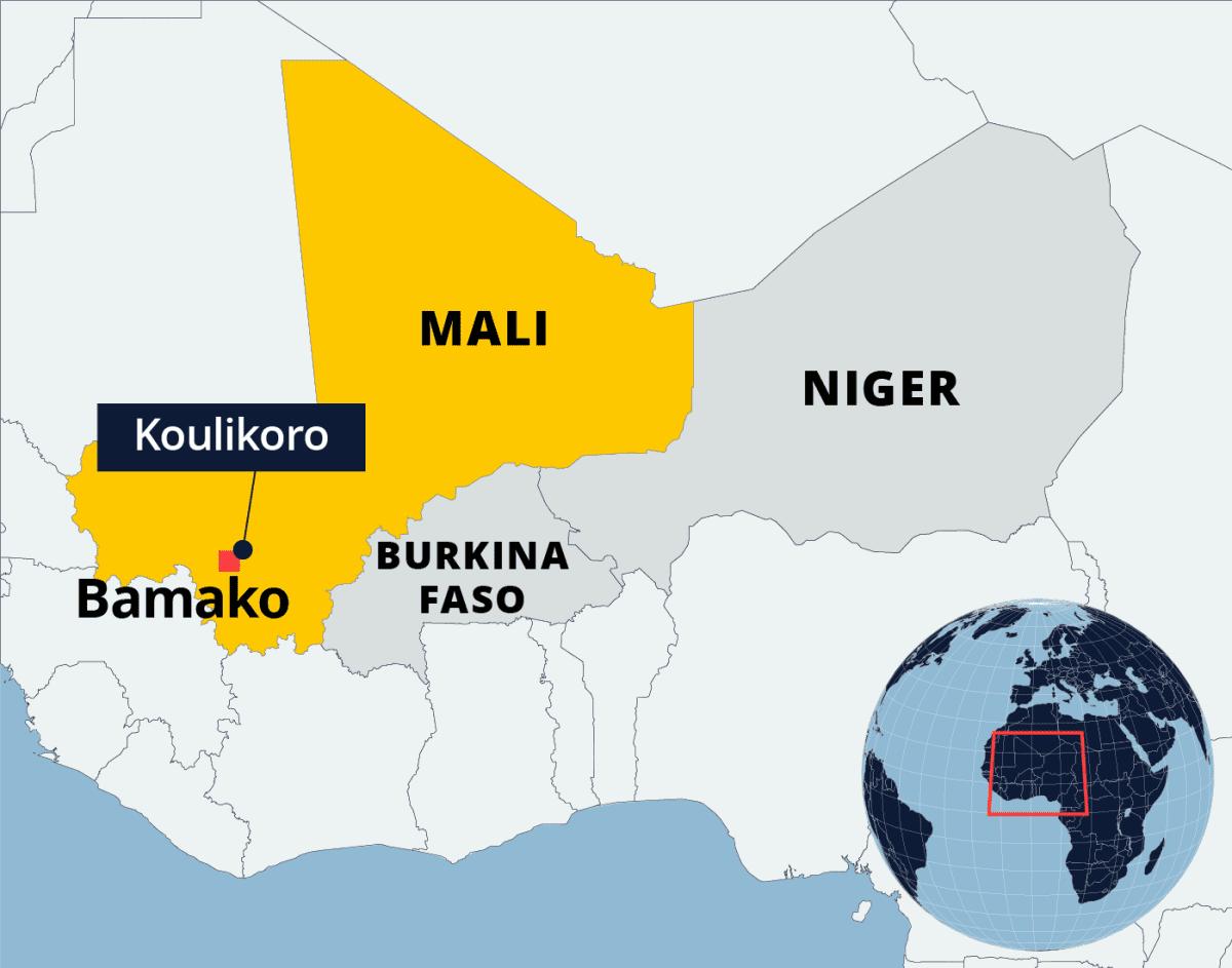 Kartalla Mali, Burkina Faso ja Niger.