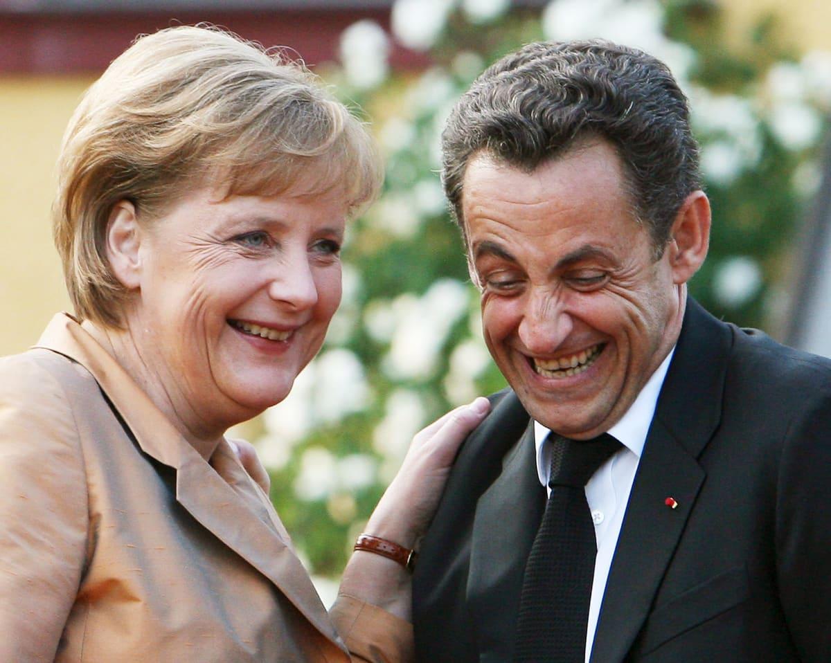 Angela Merkel ja Nicholas Sarkozy vuonna 2007