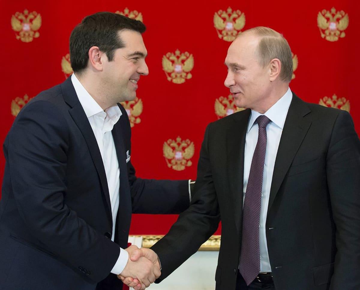 Alexis Tsipras ja Vladimir Putin.