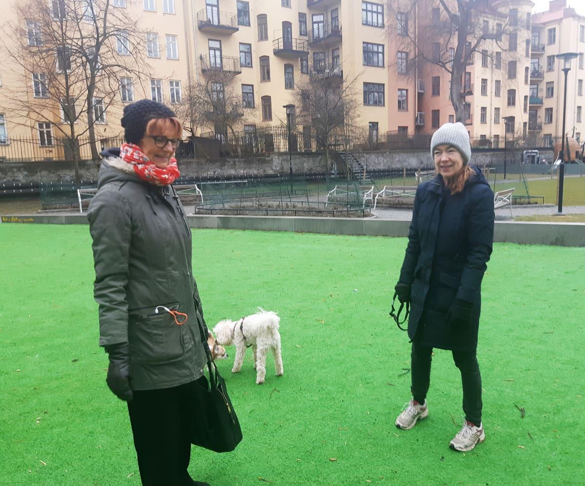 Anna-Lena Svensson ja Åsa Holmlund